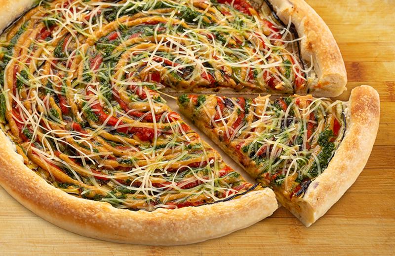 Пицца Баклажан пышная