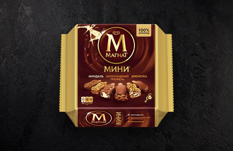 Заказ Мороженое Магнат Мини Мультипак миндаль, трюфель, брюнетка