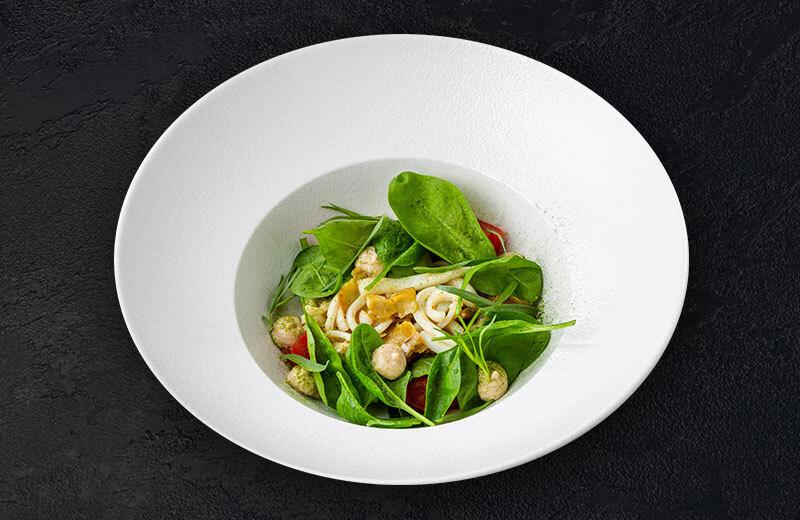 Доставка салат с кальмаром гриль и паштетом из осьминога