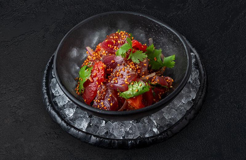 Заказать севиче из тунца с кампотским перцем