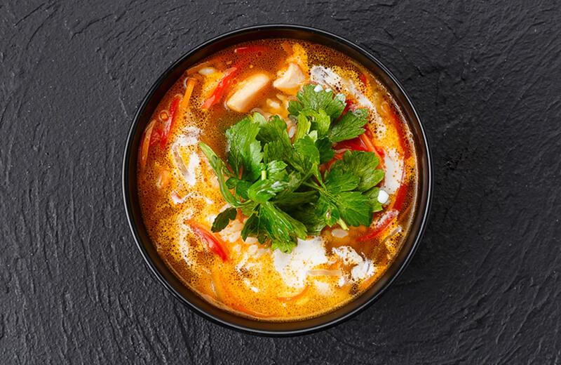 Кокосовый суп с цыплёнком