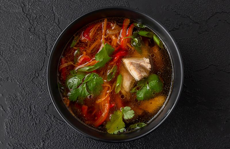 Заказ Кунжутный суп с цыплёнком