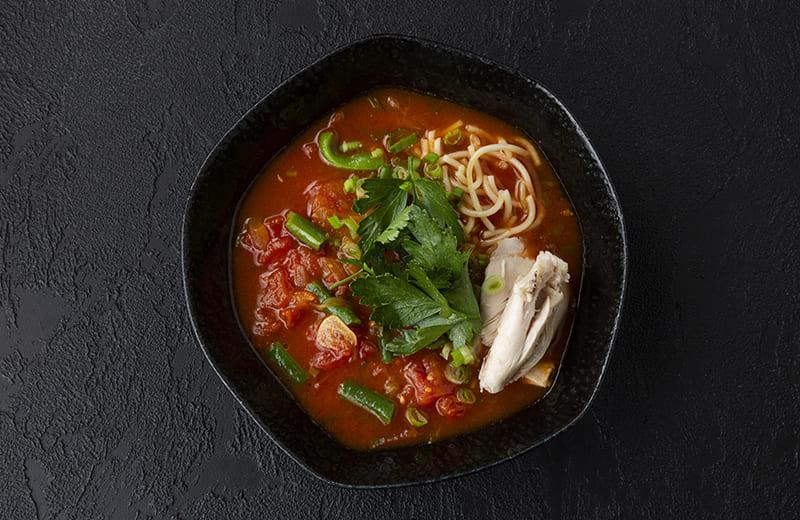 Заказ Овощной суп с цыплёнком и капеллини