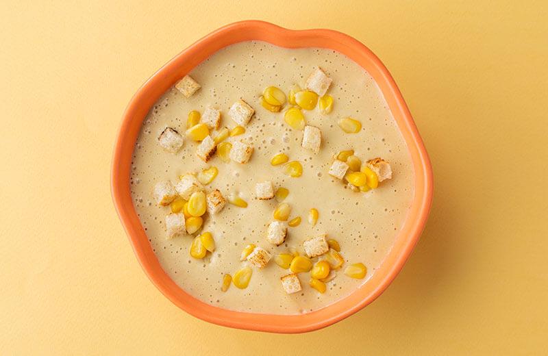 Овощной крем-суп с кукурузой