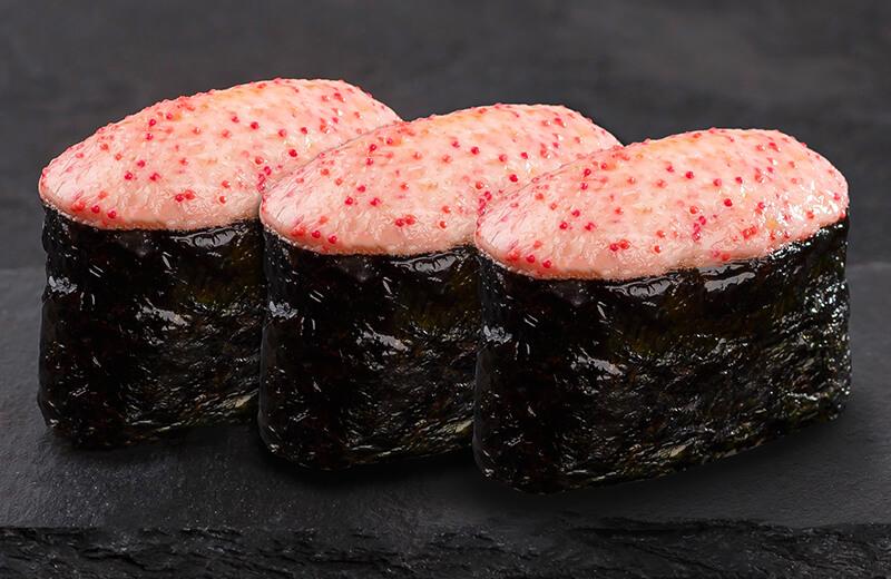 Суши, запеченные под сырным соусом креветка (3 шт.)