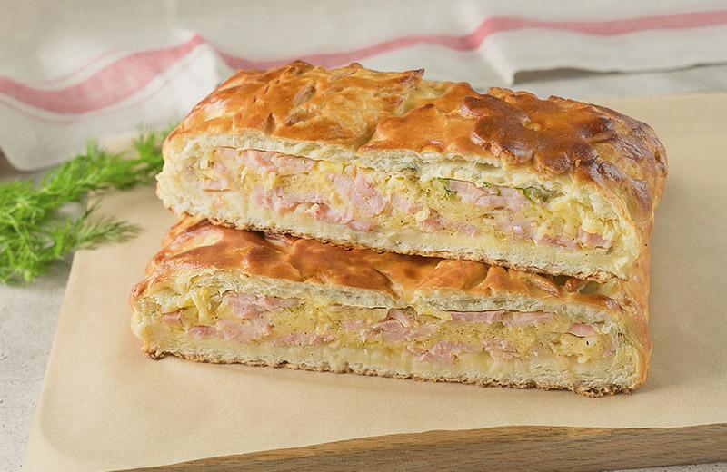 Пирог с ветчиной и сыром 1кг